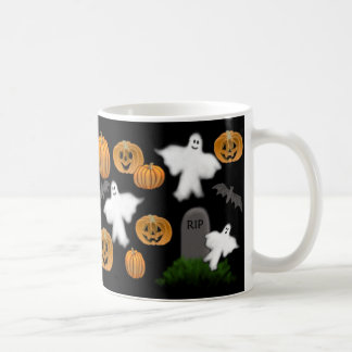 Halloween Pumpkins & Ghosts Mug