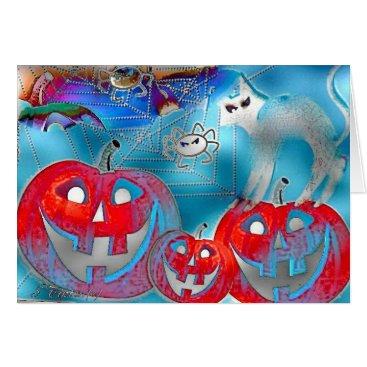 Halloween Themed Halloween Pumpkins Gimp Art Card