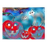 Halloween Pumpkins Gimp Art Postcard