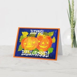 Halloween Pumpkins Greeting Card card