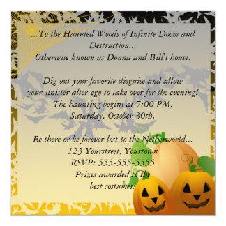 Halloween Pumpkins Invitation