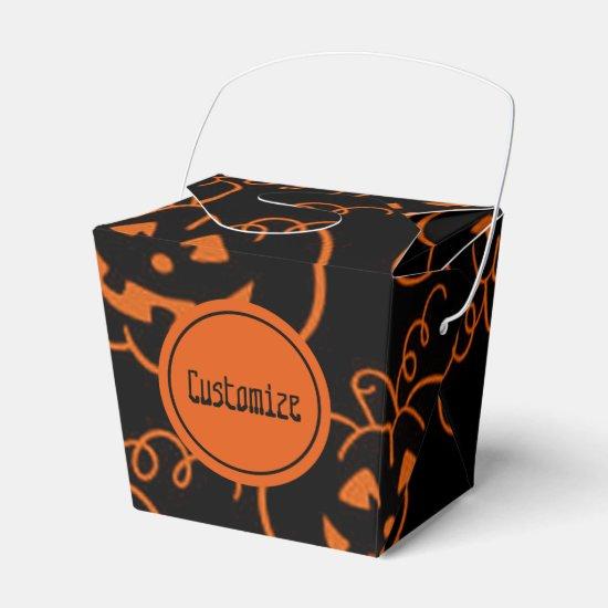 Halloween Pumpkins Jack-O-Lantern Favor Box