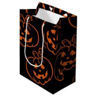 Halloween Pumpkins Jack-O-Lantern Gift Bag Medium Gift Bag