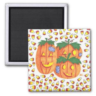 Halloween pumpkins magnet