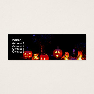 Halloween pumpkins mini business card