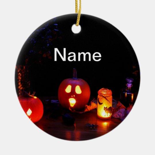 Halloween pumpkins ornament