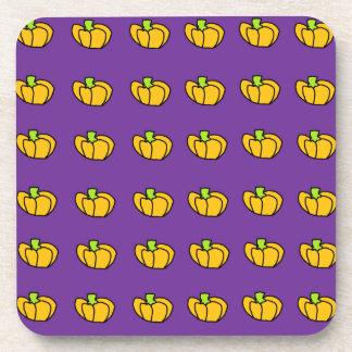Halloween Pumpkins Pattern Drink Coaster
