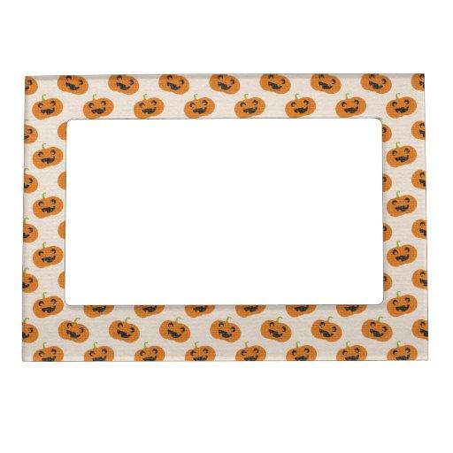 Halloween Pumpkins Pattern Magnetic Frame