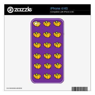 Halloween Pumpkins Pattern Decals For iPhone 4