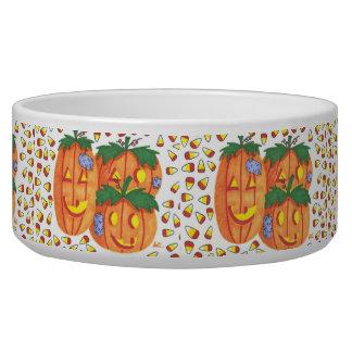 Halloween pumpkins pet bowl
