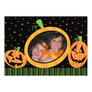 Halloween Pumpkins Photo Card