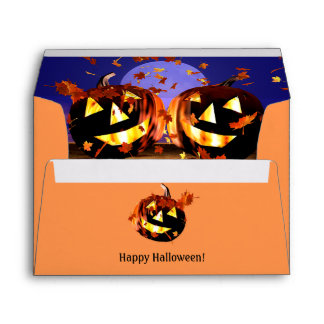 Halloween Pumpkins Playing Envelope
