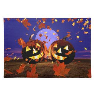 Halloween Pumpkins Playing Placemat