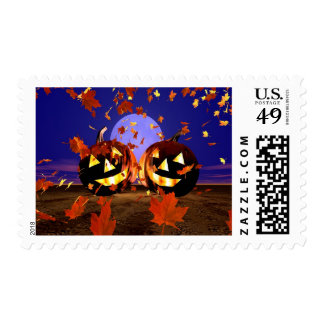 Halloween Pumpkins Playing Postage