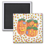 Halloween pumpkins refrigerator magnets
