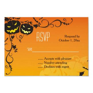 Halloween Pumpkins RSVP Card