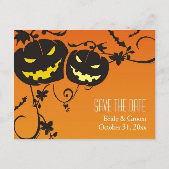 Halloween Pumpkins Save The Date Cards Zazzle Com