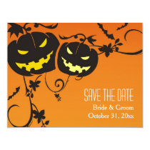 Halloween Pumpkins Save The Date Cards