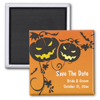 Halloween Pumpkins Save The Date Magnet