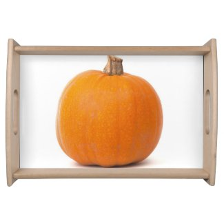 halloween pumpkins service tray