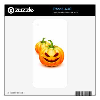 Halloween pumpkins iPhone 4S skin