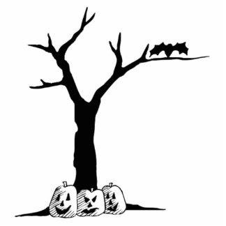 Halloween Pumpkins Under a Tree Photo Cutout