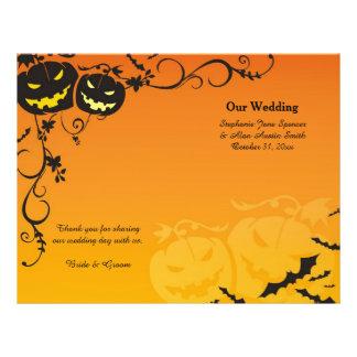 Halloween Pumpkins Wedding Programs