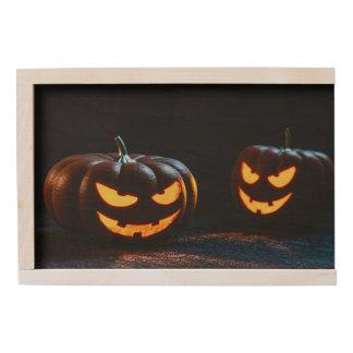 Halloween Pumpkins Wooden Keepsake Box