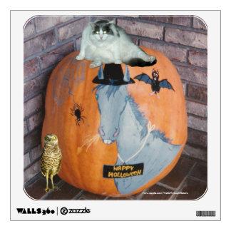 Halloween Punkin Cat Owl Bat Horse Wall Decal