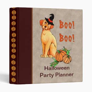 Halloween Puppy Dog Binder