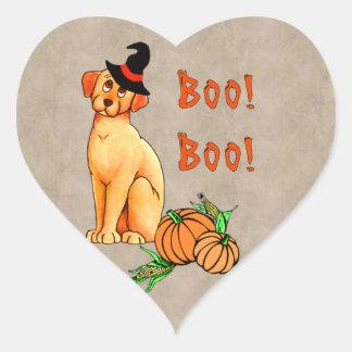 Halloween Puppy Dog Heart Sticker