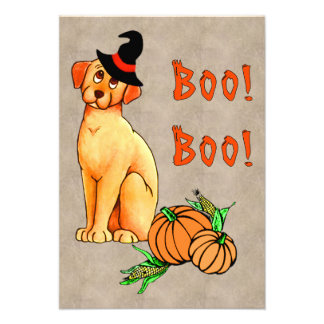 Halloween Puppy Dog Personalized Invitations