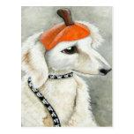 Halloween Puppy with Pumpkin Hat Postcard