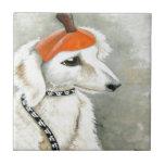 Halloween Puppy with Pumpkin Hat Tiles