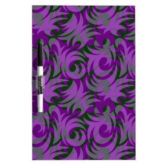 Halloween Purple and Green Swirl Decoration Dry Erase White Board