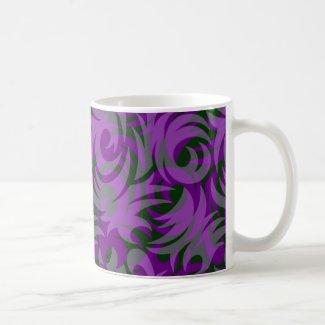 Halloween Purple and Green Swirl Decoration Coffee Mug