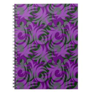 Halloween Purple and Green Swirl Decoration Journals
