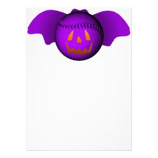 Halloween Purple Baseball Bat Custom Announcements