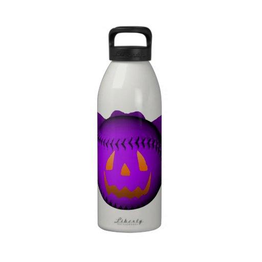 Halloween Purple Baseball Bat Drinking Bottles