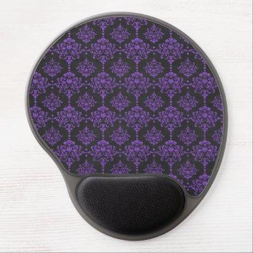 Halloween Themed Halloween Purple Damask Chalkboard Pattern Gel Mouse Pad