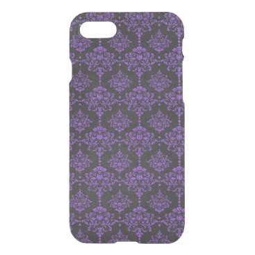 Halloween Themed Halloween Purple Damask Chalkboard Pattern iPhone 8/7 Case