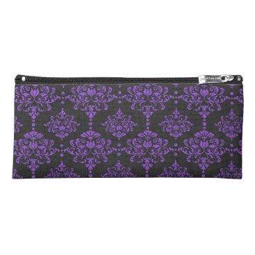 Halloween Themed Halloween Purple Damask Chalkboard Pattern Pencil Case