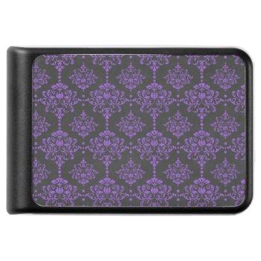 Halloween Themed Halloween Purple Damask Chalkboard Pattern Power Bank