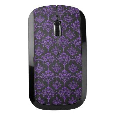 Halloween Themed Halloween Purple Damask Chalkboard Pattern Wireless Mouse