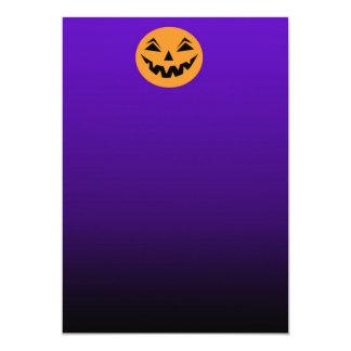 Halloween Purple Gradient Pumpkin Invitation