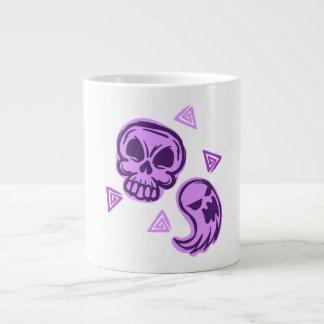 Halloween Purple Skull and Ghost Giant Coffee Mug