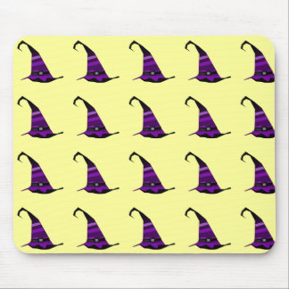 Halloween Purple Witches Hat Mouse Pad