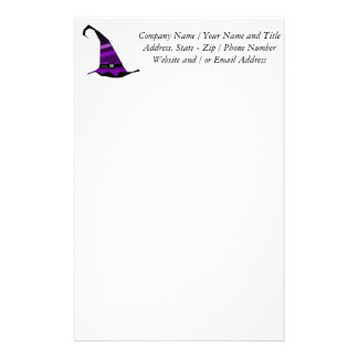 Halloween Purple Witches Hat Stationery
