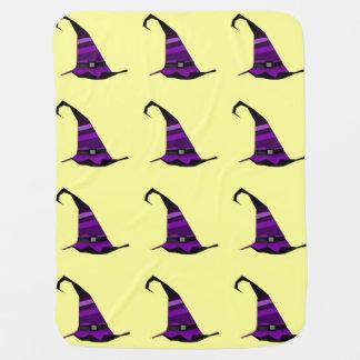 Halloween Purple Witches Hat Baby Blankets