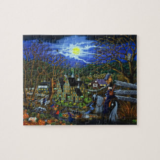 Halloween puzzle, witches,school,college puzzle